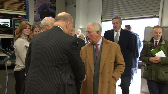 prince charles shaking hands on visit to newquay at beginning of march, he has since tested positive for coronavirus - shaking stock videos & royalty-free footage
