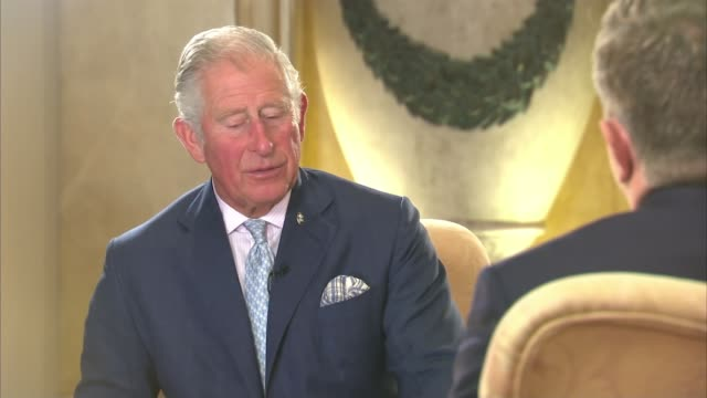 prince charles speaks out about the threat to the world's oceans malta int prince charles prince of wales interview sot why do you think i've been... - 精神異常点の映像素材/bロール