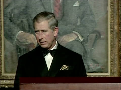 prince charles speech accepting global environmental citizen award; prince charles speech sot - on need for business community to take responsibility... - responsibility stock videos & royalty-free footage