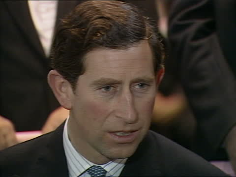 prince charles speech at living options lottery event; england: london: int various shots of prince charles, prince of wales along into room and... - circle stock videos & royalty-free footage