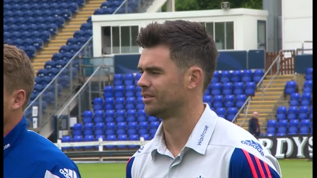 Prince Charles start of Wales visit Helicopter flying off / England players Anderson and Buttler waiting / Alastair Cook waiting / Jimmy Anderson /...