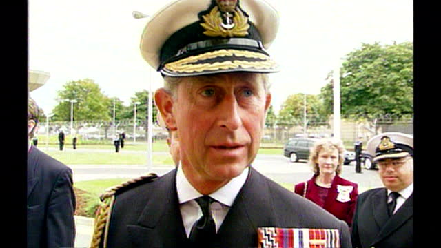 "prince charles talks of his sorrow and sympathy for the victims of the 9/11 attacks; 2001. ""i feel deeply for what has happened in this, i think,... - hat stock videos & royalty-free footage"