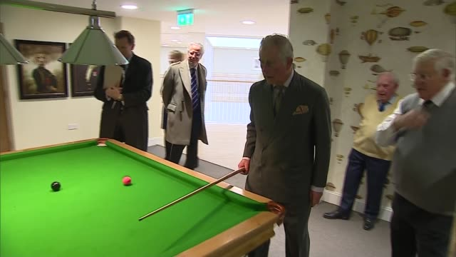 damers first school bowes lyon court and loop technology bowes lyon court int charles into retirement home and waves takes off his coat / charles... - court room stock-videos und b-roll-filmmaterial