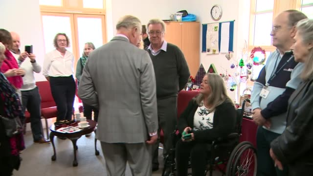 prince charles visit to poundbury england dorset poundbury dorchester community church int prince charles prince of wales along and meeting disabled... - cut video transition stock videos and b-roll footage