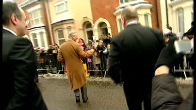 prince charles visit to shoemakers factory in northampton england northamptonshire northampton photography *** gvs prince charles' car along past... - man hands behind head stock videos & royalty-free footage