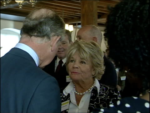 prince charles visit to tower of london and cruise up river thames prince charles chatting to more people at reception including judith chalmers /... - judith chalmers stock videos & royalty-free footage