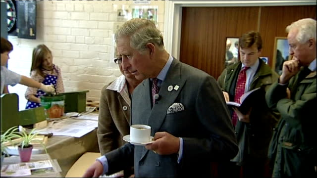 prince charles visit to youth centre in co durham england county durham middletoninteesdale throughout*** children painting at youth centre / prince... - teesdale stock videos & royalty-free footage