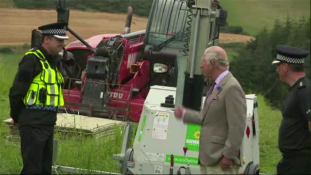 prince charles visiting the site of the aberdeenshire train crash - rescue worker stock videos & royalty-free footage