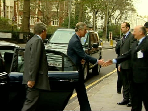 prince charles visits breakthrough toby robins breast cancer research centre england london fulham road ext cars pulling up prince charles prince of... - official car stock videos & royalty-free footage