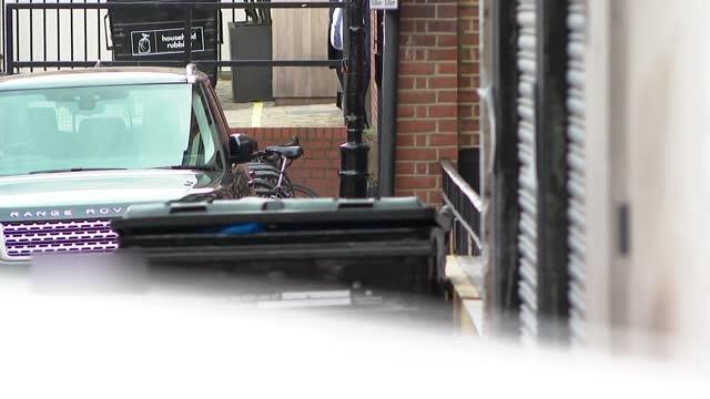 prince charles visits duke of edinburgh in hospital; england: london: marylebone: king edward vii's hospital: ext sign 'king edward vii's hospital... - visit stock videos & royalty-free footage