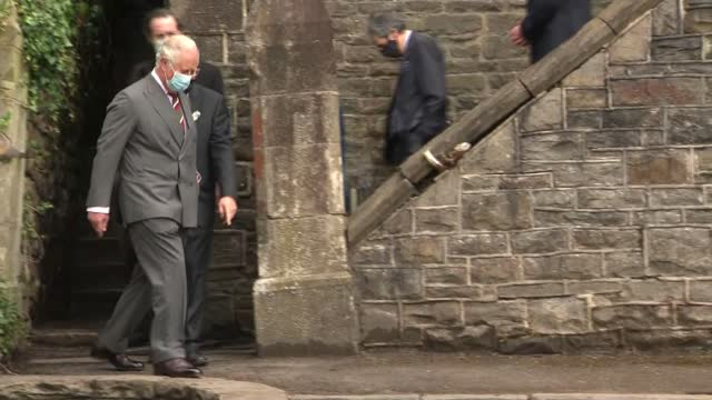 prince charles visits former synagogue in merthyr tydfil; wales: merthyr tydfil: merthyr tydfil synagogue: int further shots of prince charles,... - judaism stock videos & royalty-free footage