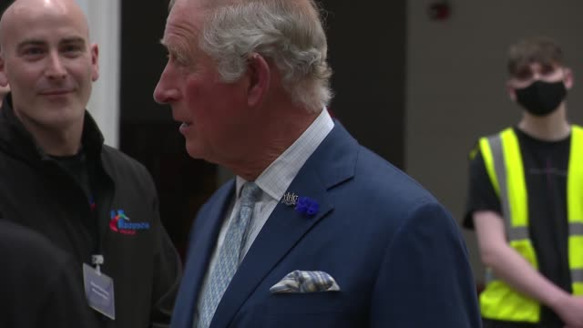 prince charles visits henderson foodstuffs in county antrim; northern ireland: county antrim: int prince charles, prince of wales and others down... - prince charles prince of wales stock videos & royalty-free footage