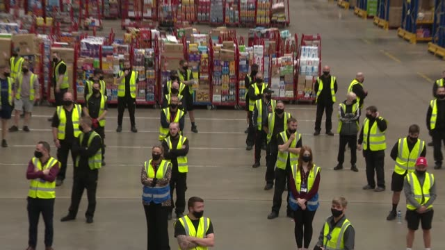 prince charles visits henderson foodstuffs in county antrim northern ireland county antrim int various of warehouse of henderson foodstuffs with... - hamper stock videos & royalty-free footage