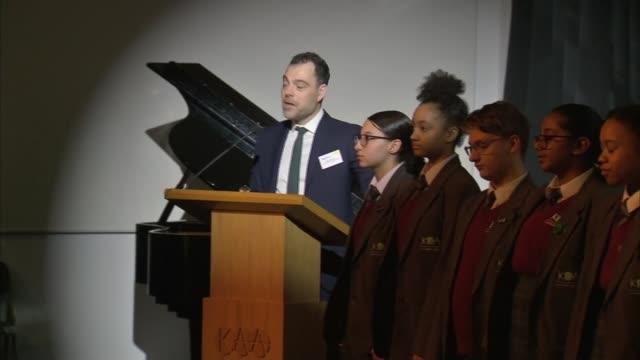 prince charles visits kensington aldridge academy and making speech; england: london: kensington aldridge academy: int prince charles, prince of... - head teacher stock videos & royalty-free footage