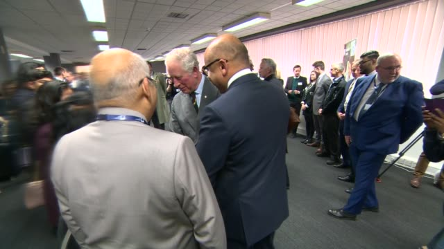 Prince Charles visits Liberty Speciality Steel in Rotherham ***WARNING Prince Charles Prince of Wales meeting people at reception Sanjeev Gupta...