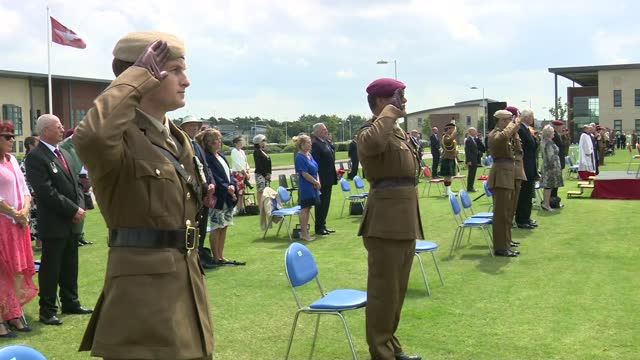prince charles visits merville barracks in colchester; england: essex: colchester: merville barracks: ext prince charles, prince of wales speech sot.... - war and conflict stock videos & royalty-free footage