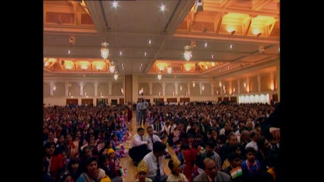 prince charles visits new hindu temple in neasden; england: london: neasden: baps shri swaminarayan mandir: int prince charles, prince of wales... - traditional clothing stock videos & royalty-free footage