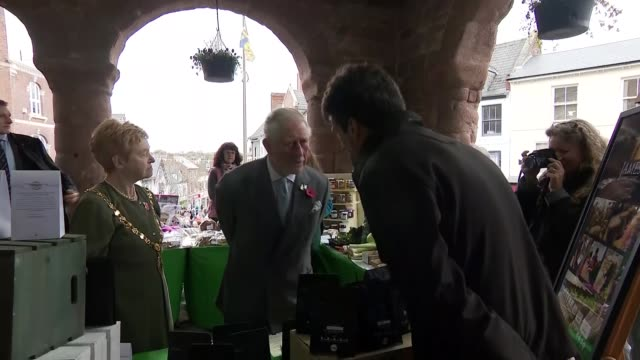 prince charles visits ross-on-wye to open the gilpin 2020 festival; england: herefordshire: ross-on-wye: ext **beware flash photography** prince... - herefordshire stock videos & royalty-free footage