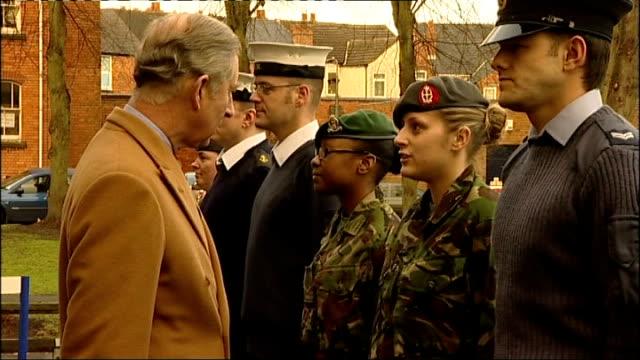 Prince Charles visits Royal Centre for Defence Medicine at Selly Oak Hospital ENGLAND West Midlands Birmingham Selly Oak Hospital EXT Sign reading...
