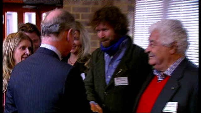 prince charles visits 'the warrior programme' in fulham ****flash prince charles introduced to people by eva hamilton including television adventurer... - antonio carluccio stock videos & royalty-free footage