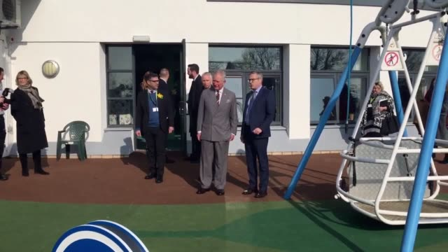 Prince Charles visits Ty Hafan children's hospice in Sully South Wales