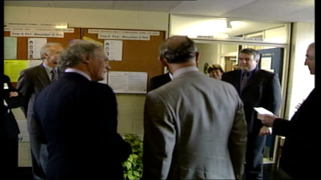 prince charles visits university of wales htv ceredigion aberystwyth ext gv car along and prince charles prince of wales along from car and greets... - aberystwyth stock videos & royalty-free footage