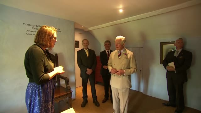 prince charles visits yr ysgwrn farmhouse in snowdonia national park wales snowdonia national park prince charles prince of wales visits yr ysgwrn... - former stock videos and b-roll footage