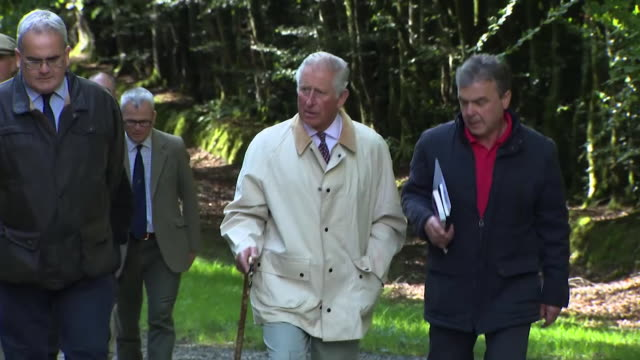 Prince Charles walking on a visit to Queensland Australia