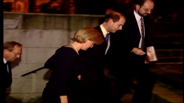 Prince Edward to stop making Royal programmes LIB London Edward Earl of Wessex Sophie Countess of Wessex posing for photocall then away up steps to...