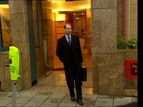 Prince Edward to stop making Royal programmes LIB EXT Edward Earl of Wessex posing for photocall outside office