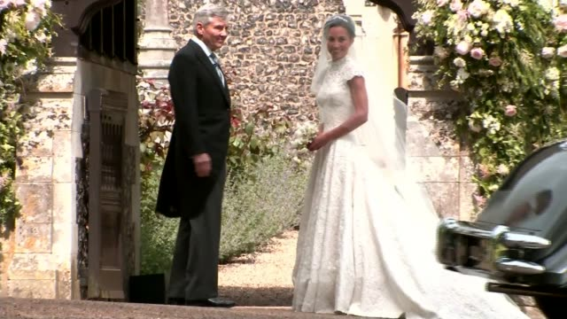 Prince George and Princess Charlotte have starring roles at Pippa Middleton's wedding ENGLAND Berkshire Englefield EXT Car carrying Pippa Middleton...