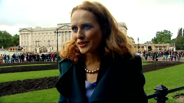 Prince George christened at St James's Palace Buckingham Palace EXT Kate Williams interview SOT