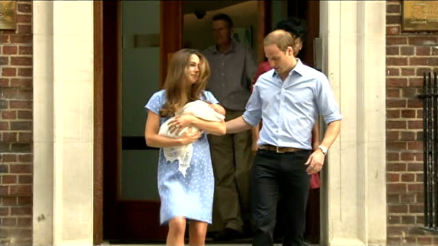 vídeos y material grabado en eventos de stock de prince george named the most influential person in london **sands interview overlaid sot** st mary's hospital lindo wing photography** prince william... - 2013