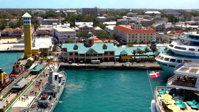 prince george wharf - nassau, bahamas - bahamas stock videos & royalty-free footage