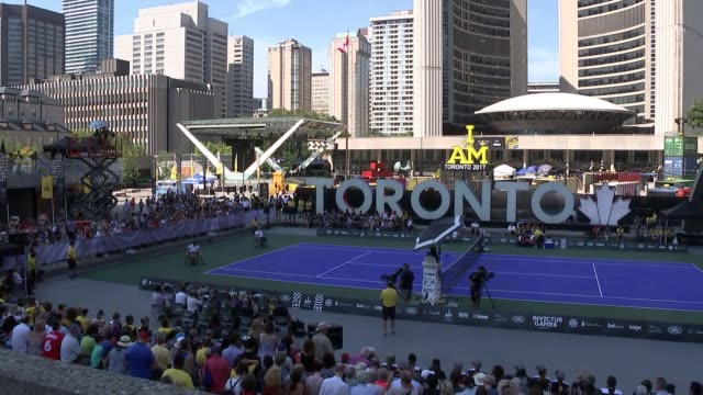 Prince Harry and girlfriend Meghan Markle make first public appearance at the Invictus Games CANADA Ontario Toronto Nathan Philips Square EXT Various...