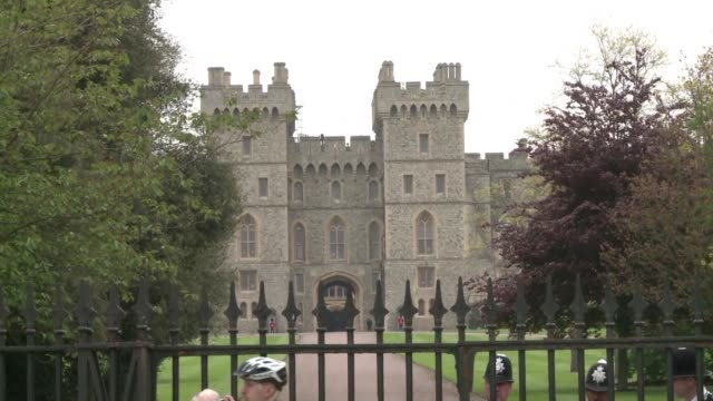 prince harry and his american fiancee meghan markle will marry at st george's chapel in windsor castle in may next year - st. george's chapel stock videos and b-roll footage