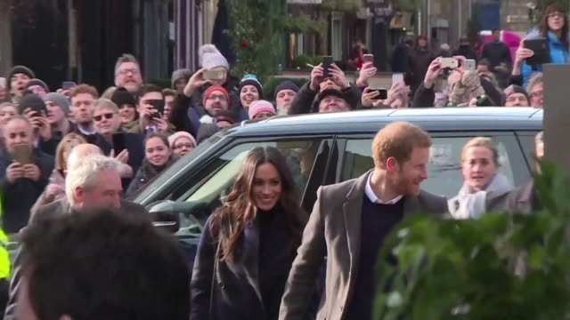 Prince Harry and his fiancee Meghan pay a visit to Endinburgh's Social Bite Cafe a homeless charity