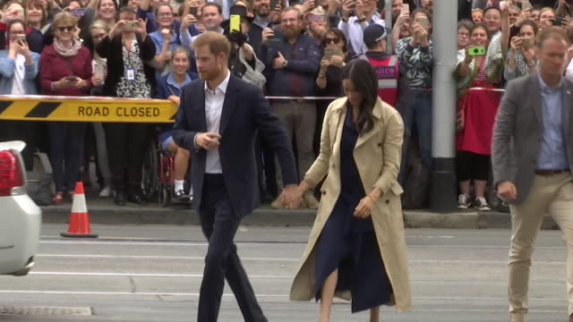 Prince Harry and Meghan Duchess of Sussex arriving at Charcoal Lane in Melbourne