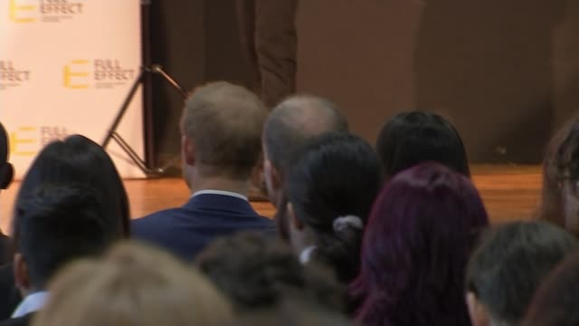 Prince Harry and Meghan Markle attend first official engagements in Nottingham Nottingham Academy Prince Harry and fiancee Meghan Markle sitting in...