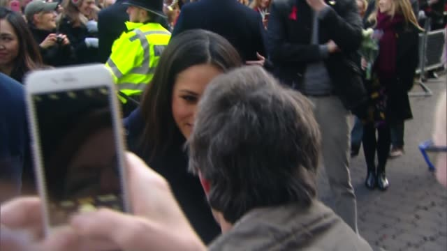 Prince Harry and Meghan Markle attend first official engagements in Nottingham ENGLAND Nottinghamshire Nottingham EXT Prince Harry and fiancée Meghan...
