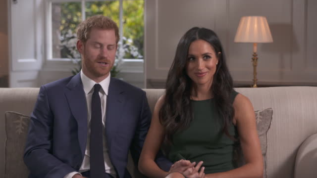Prince Harry and Meghan Markle describing the night Harry proposed