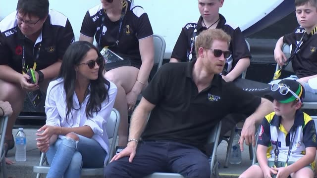 prince harry and meghan markle engagement meghan markle profile tx invictus games ext prince harry and actor girlfriend meghan markle watching... - actor stock videos & royalty-free footage