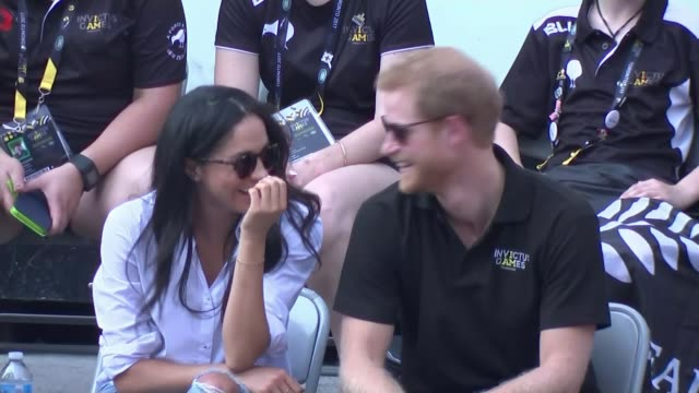prince harry and meghan markle engagement relationship background tx invictus games ext various of prince harry and actor girlfriend meghan markle... - actor stock videos & royalty-free footage