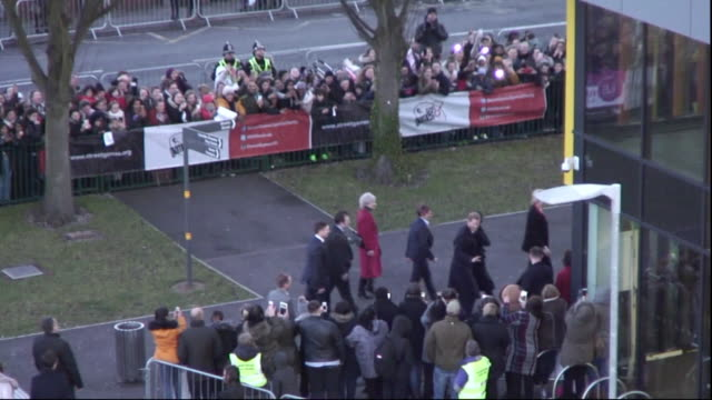 prince harry and meghan markle entering the star hub in cardiff - cardiff wales stock videos & royalty-free footage