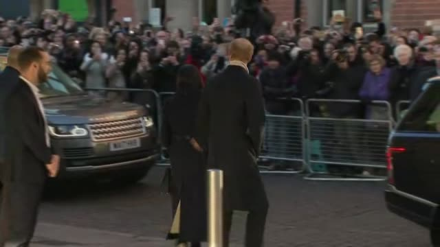 Prince Harry and Meghan Markle in Nottingham AIDS Charity visit departure ENGLAND Nottingham Nottingham Contemporary QUALITY ** Prince Harry Meghan...