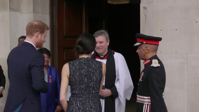 prince harry and meghan markle meet baroness lawrence and her son stuart for the memorial service to commemorate the 25th anniversary of the murder... - 25th anniversary stock videos & royalty-free footage