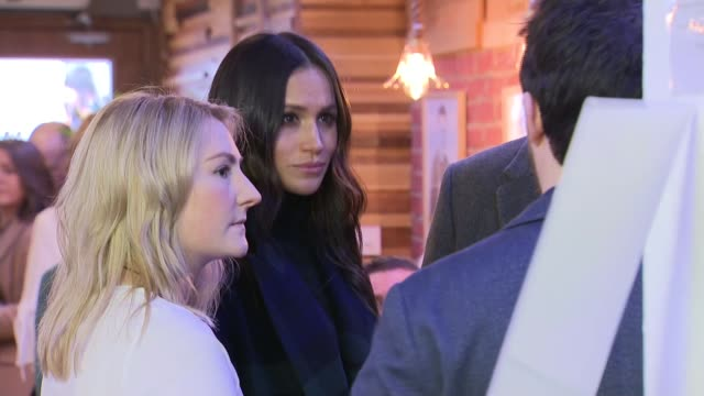 Prince Harry and Meghan Markle visit Edinburgh Social Bite sandwich shop SCOTLAND Edinburgh INT Prince Harry and Meghan Markle into the Social Bite...