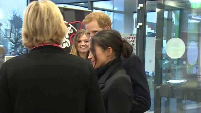 Prince Harry and Meghan Markle visit Star Hub Fitness Centre in Cardiff WALES Cardiff Star Hub Fitness Centre PHOTOGRAPHY*** Crowds behind barriers /...