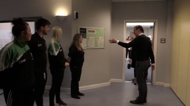 Prince Harry and Meghan Markle visit the Nechells Wellbeing Centre Birmingham where they watched Coach Core apprentices being put through their paces