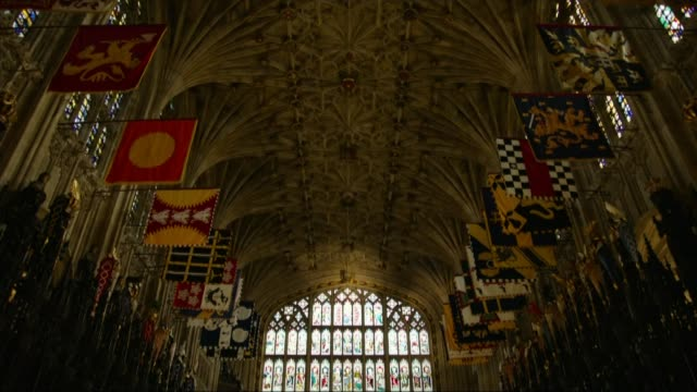 2600 members of public invited to windsor castle lib / 1222018 berkshire windsor castle ext general view of st george's chapel interiors of st... - windsor england stock videos and b-roll footage